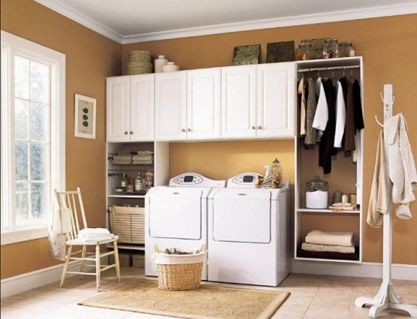 laundry room cabinets hanging rod » design and ideas Laundry Room Cabinets with Hanging Rod