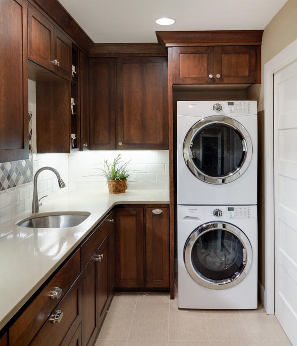 laundry room cabinets stackable washer dryer » design and ideas