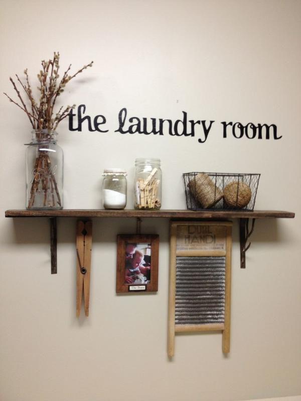 laundry room shelf decor » design and ideas
