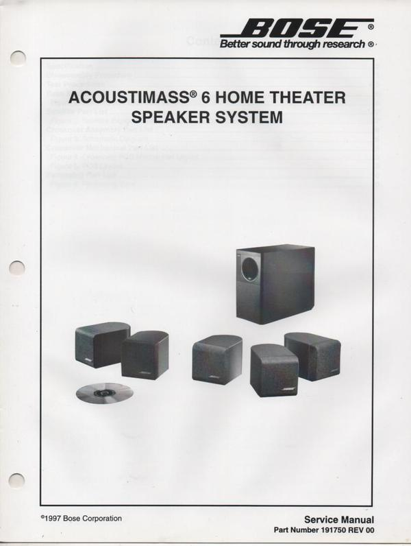 bose acoustimass 7 home theater speaker system manual design and ideas rh ctcwi net bose acoustimass 6 instruction manual bose acoustimass 6 manual español