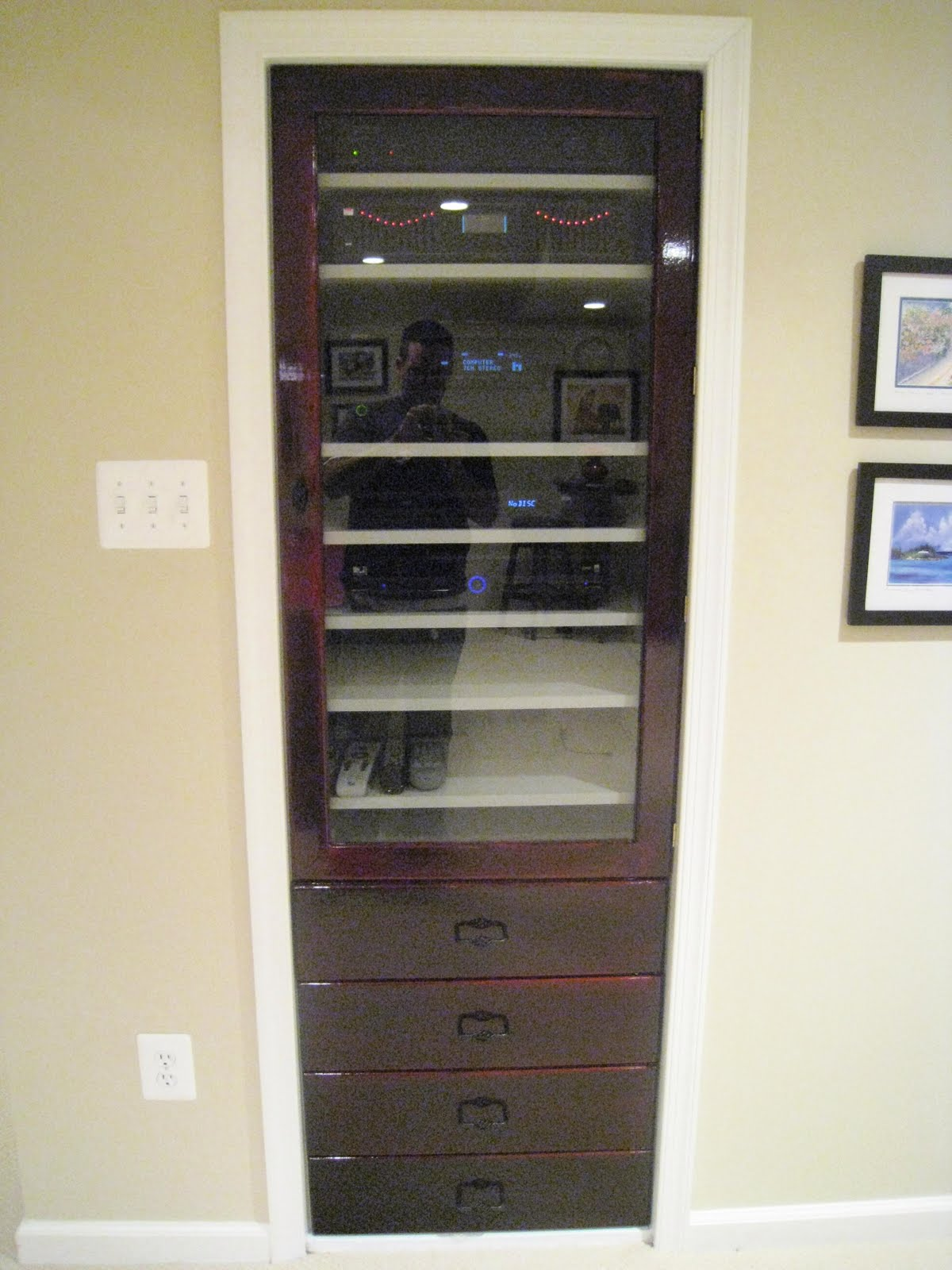 Attractive Component Rack For Home Theater Equipment