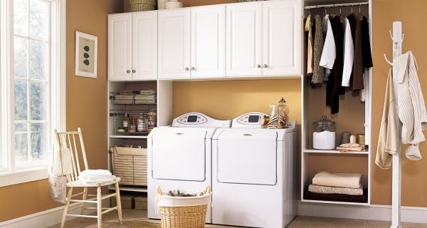 Laundry room cabinets design and ideas do it yourself laundry room cabinets solutioingenieria Choice Image