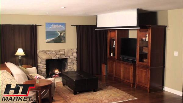 Home theater projector screen design and ideas for Motorized home theater screen
