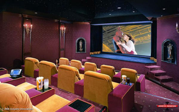 home movie theater room decor Design and Ideas