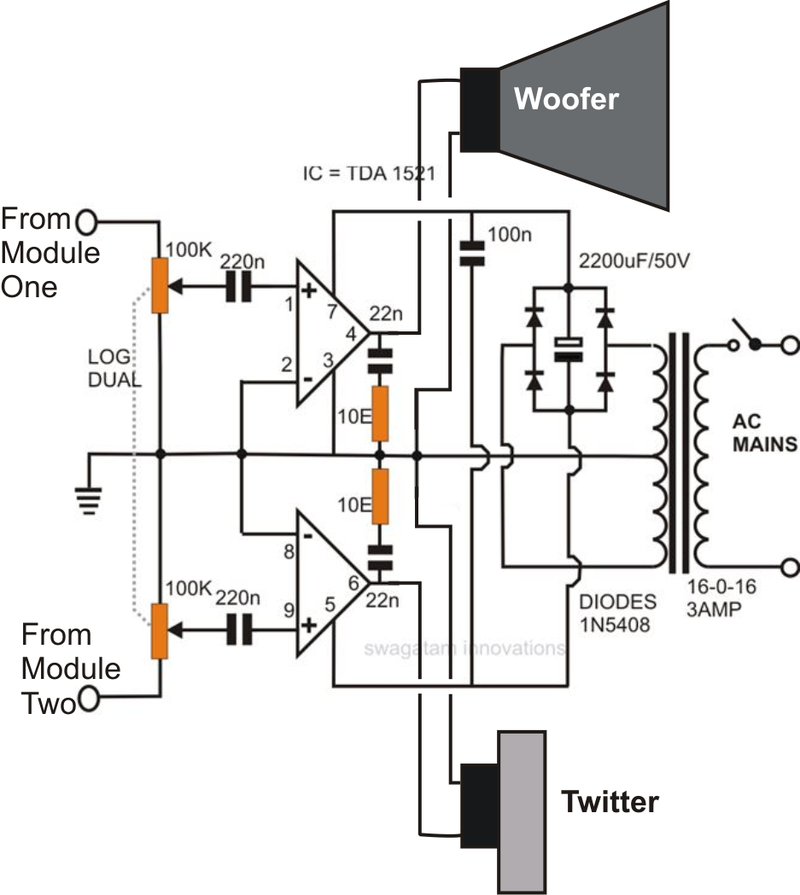 Home theater amplifier circuit design and ideas