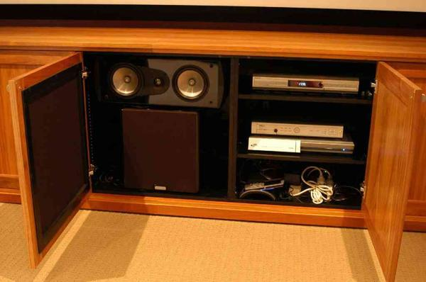 Awesome Home Theater Equipment Cabinet