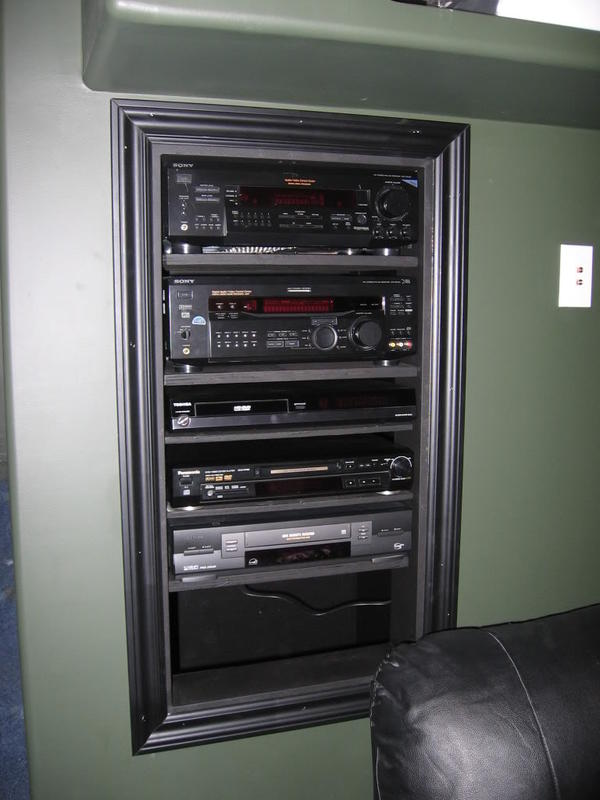 Home Theater In Wall Component Rack 187 Design And Ideas