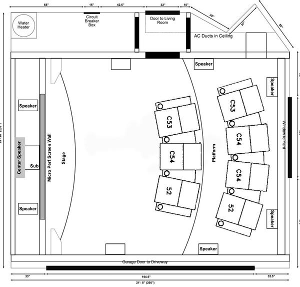 Home theater lighting layout design and ideas for Home theater floor plan