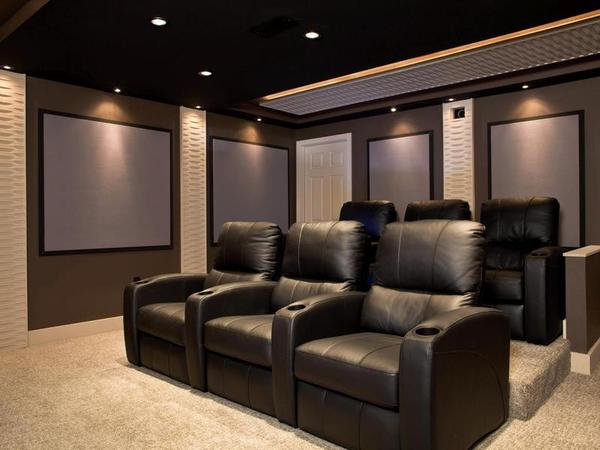 home theater room. home theater room on a budget