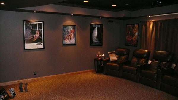 home theater room paint Design and Ideas