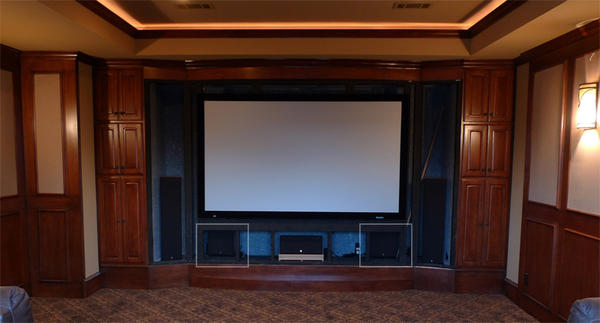 Home Theater Screen Wall