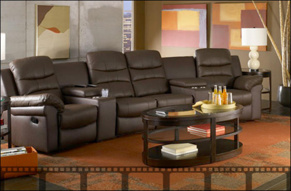 Home theater seating design and ideas for Theatre room furniture