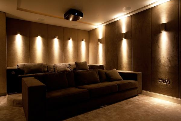 home theater wall lighting fixtures Design and Ideas