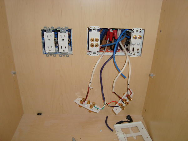 home theater wiring in wall solidfonts clean av home theater wiring decora style wall plate