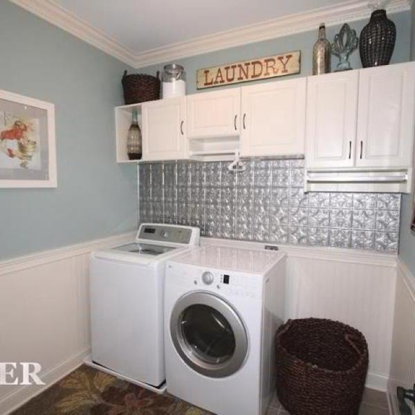 laundry room cabinets hanging rod Design and Ideas
