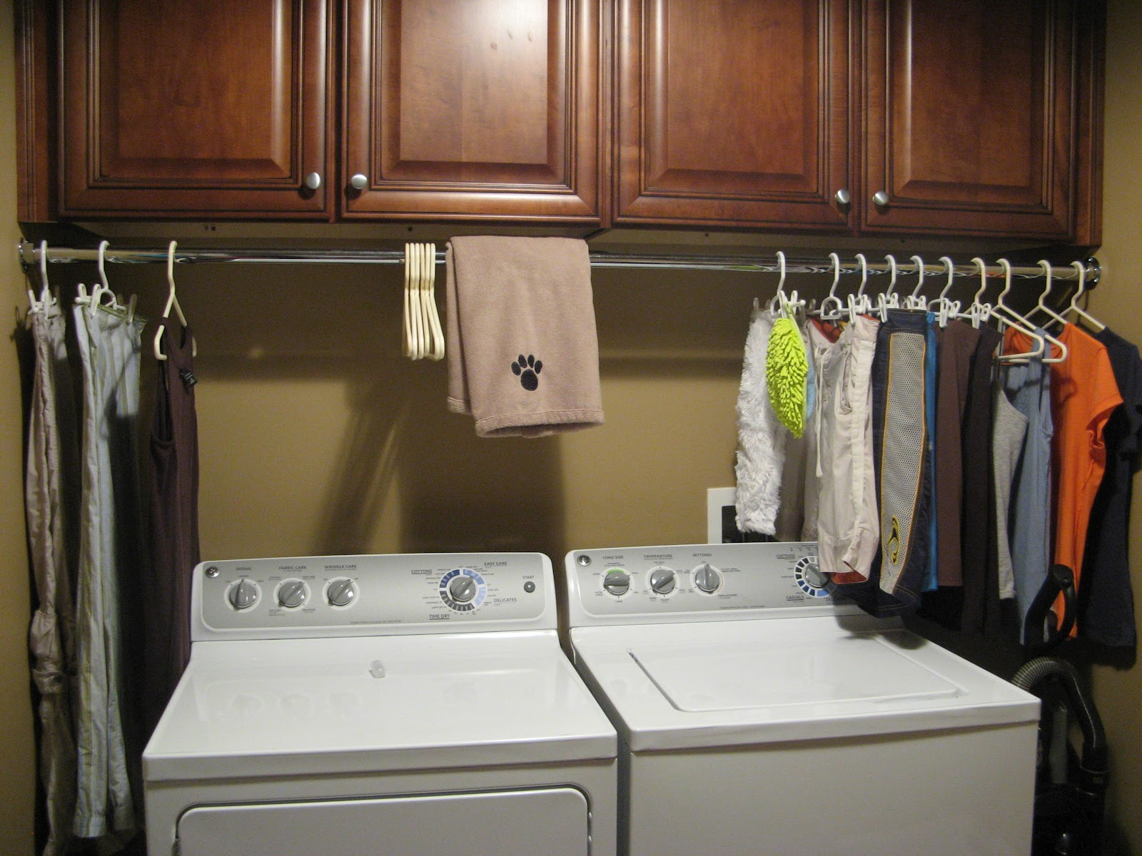 Laundry Room Cabinets With Hanging Bar