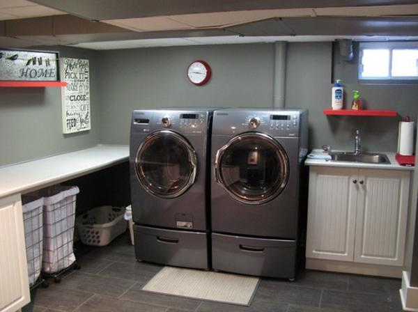 laundry room ideas in unfinished basement Design and Ideas