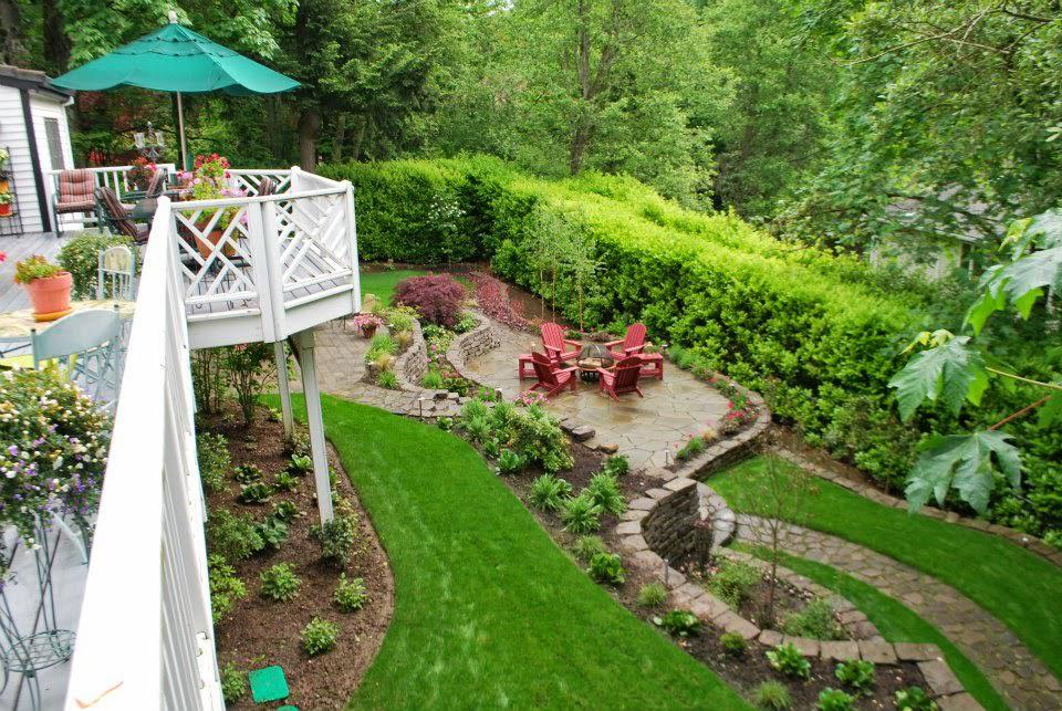 landscape design ideas for sloping backyard » Design and Ideas