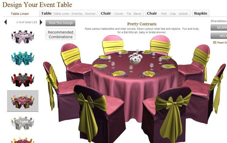 Virtual design your event table virtual wedding reception for Wedding table design tool